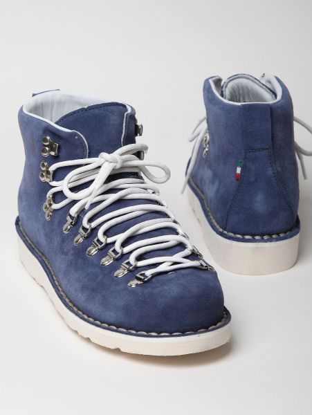 diemme suede leather lined vibram sole desert boot in blue