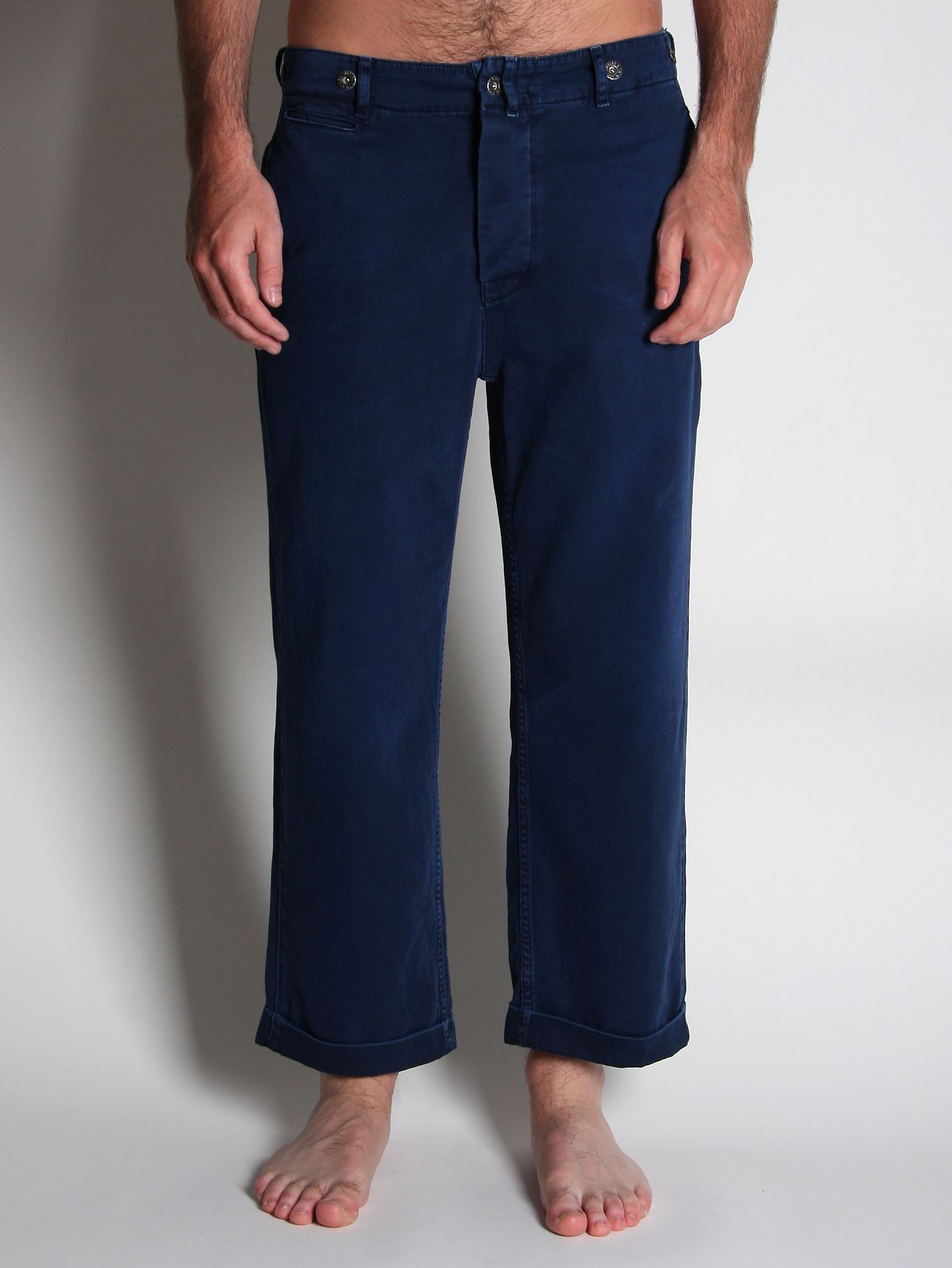 levi s levis vintage clothing chino trousers in blue for
