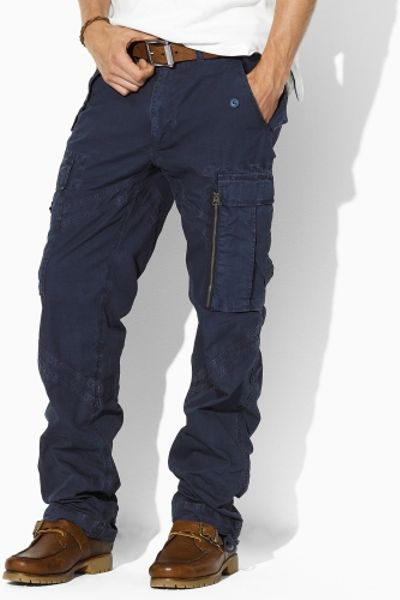 Polo Ralph Lauren Sante Fe Poplin Cargo Pant In Blue For