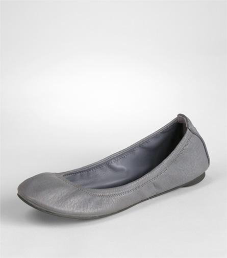 Tory Burch Eddie Ballet Flat In Gray Lyst