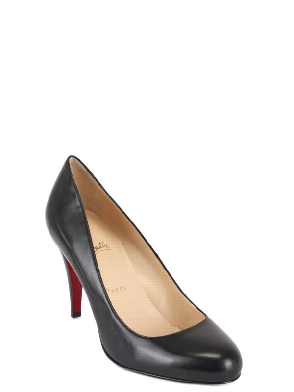 buy online a3fb3 8d1bf Christian Louboutin Black 85 Ron Ron Kid Pumps