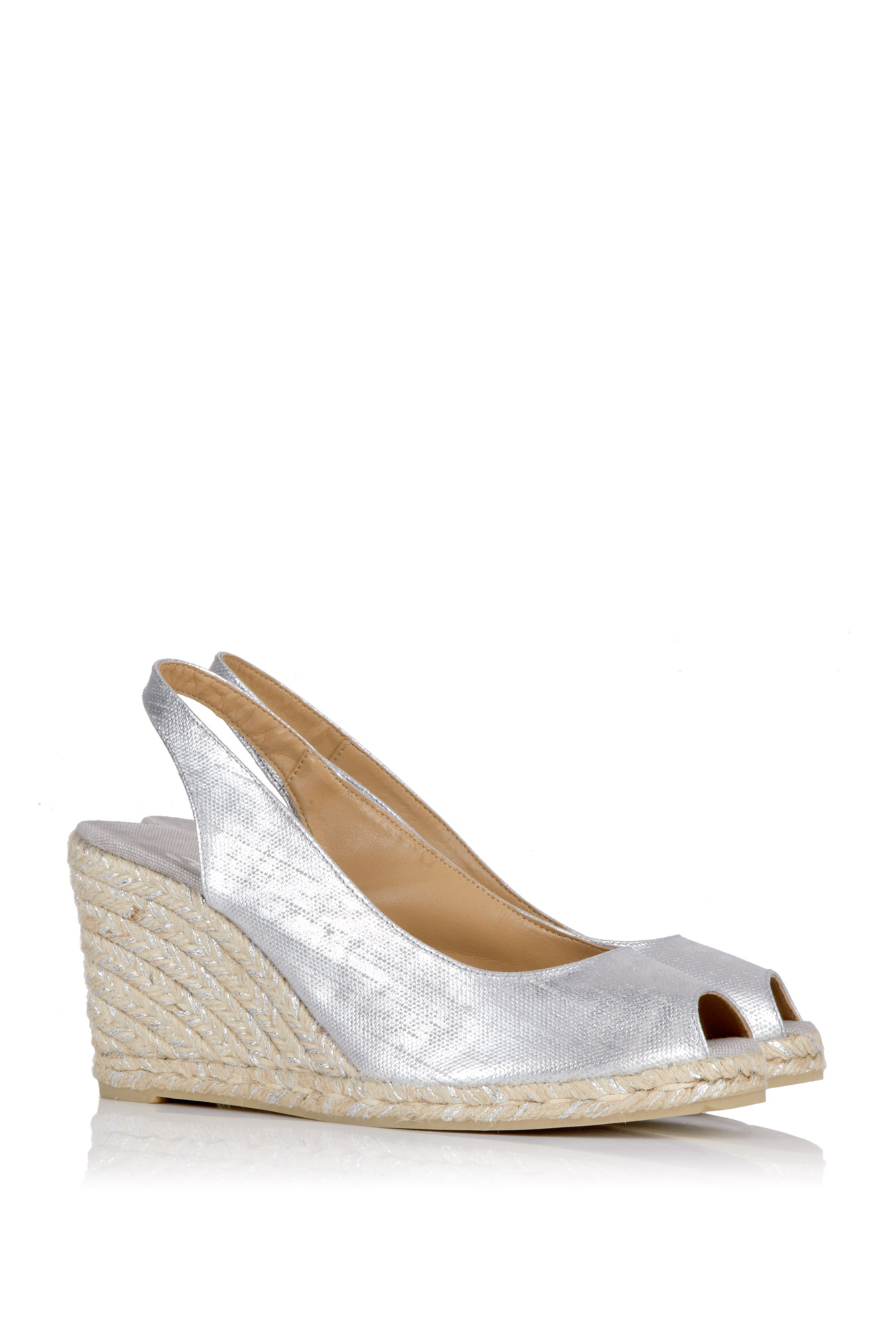 Silver Wedge Shoes For Sale