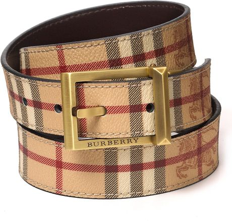 Burberry Haymarket Webster Reversible Belt in Beige for Men (Camel) - Lyst