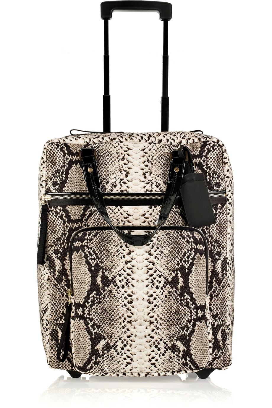 Lanvin Amalia Voyage Cotton-canvas Suitcase in Beige ...