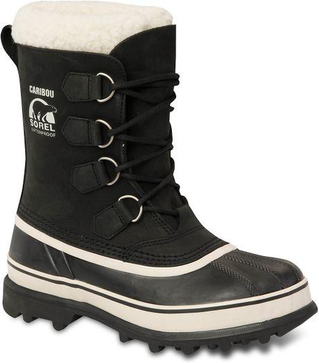 Sorel Womens Caribou Snow Boots in Black (black stone