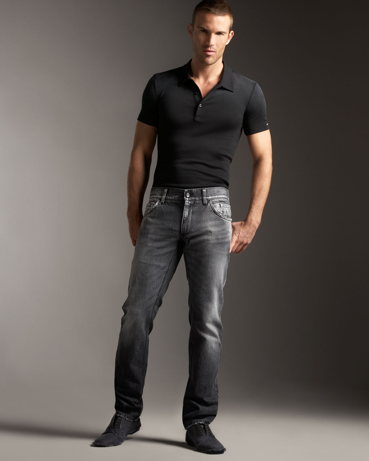 Dolce & gabbana Faded Black Jeans in Black for Men | Lyst
