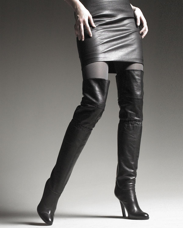 bf05f83f745 Lyst - Jimmy Choo Otk Calf Leather Boot in Black