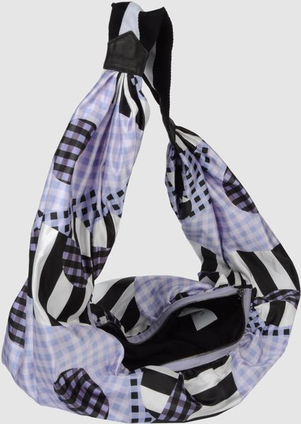 Alexander Mcqueen Large Fabric Bag In Blue Lilac Lyst