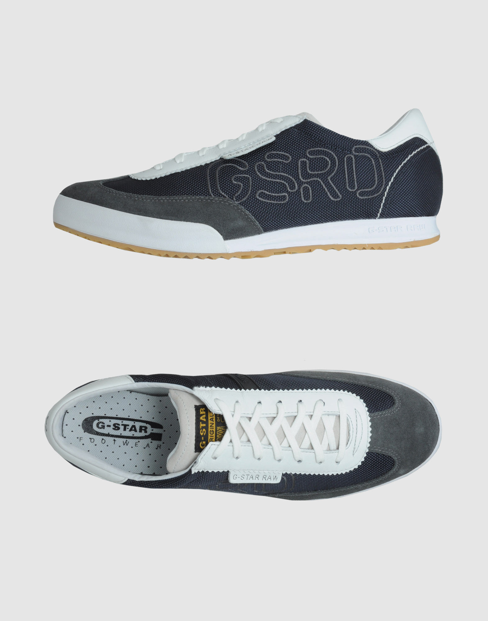 g star raw sneakers in gray for men steel lyst. Black Bedroom Furniture Sets. Home Design Ideas