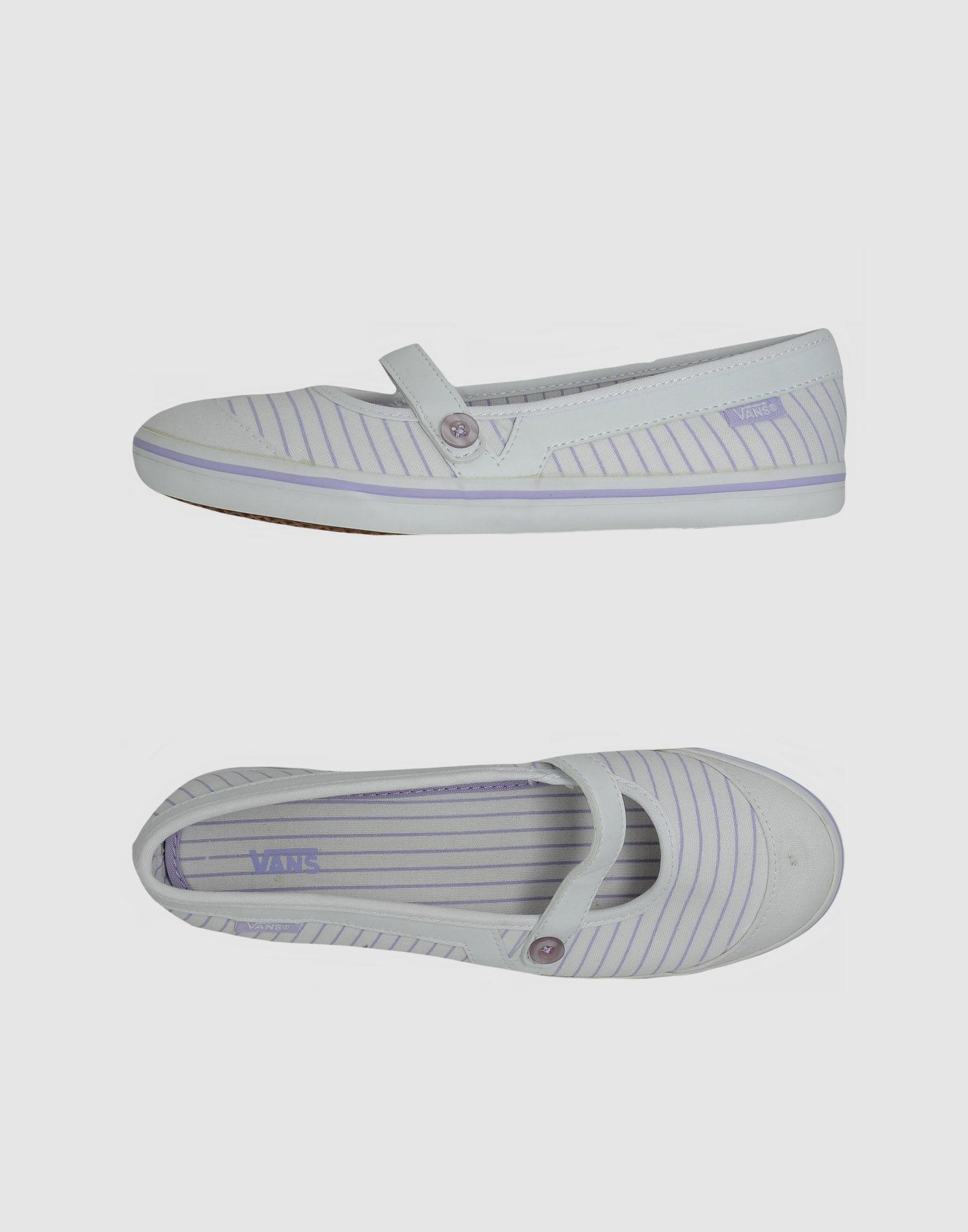 Vans Ballet Flats in White - Lyst