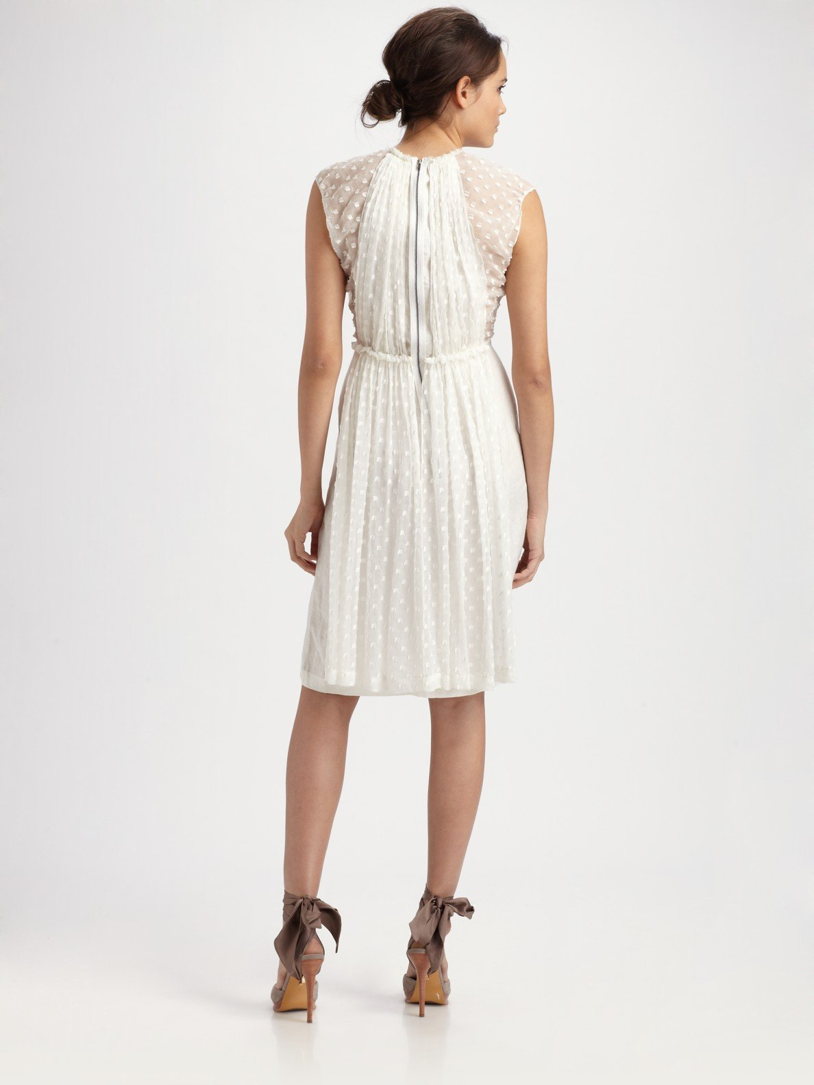 Limited Edition For Sale Grendel Woven Cotton Dress - Womens - White Rachel Comey Wholesale Price Online Outlet Finishline Marketable For Sale ICbVH