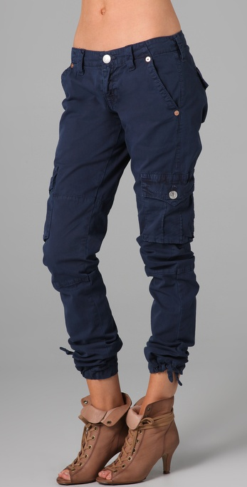 navy blue cargo pants for women - Pi Pants