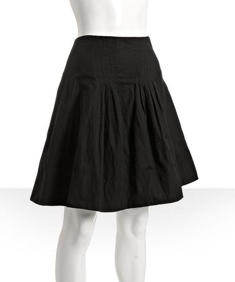 Black Cotton Skirt 34
