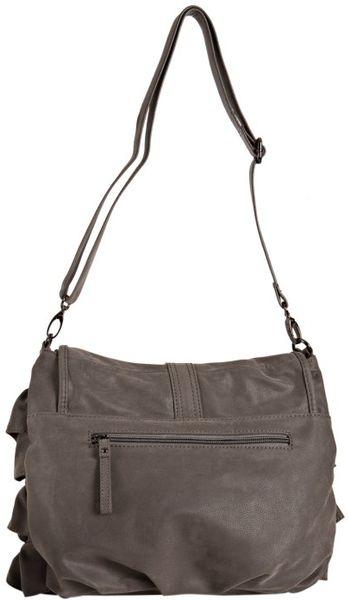 Big Buddha Grey Fabric Daisy Convertible Shoulder Bag in Gray (grey