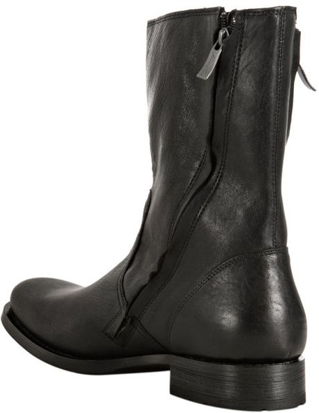 Kenneth Cole Black Leather Mind Control Boots In Black For