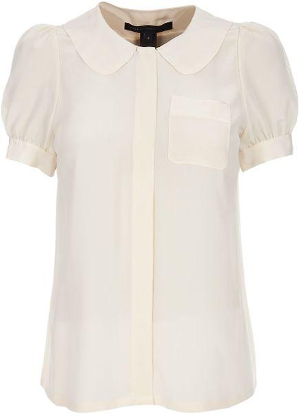 Womens Peter Pan Collar White Blouse 68