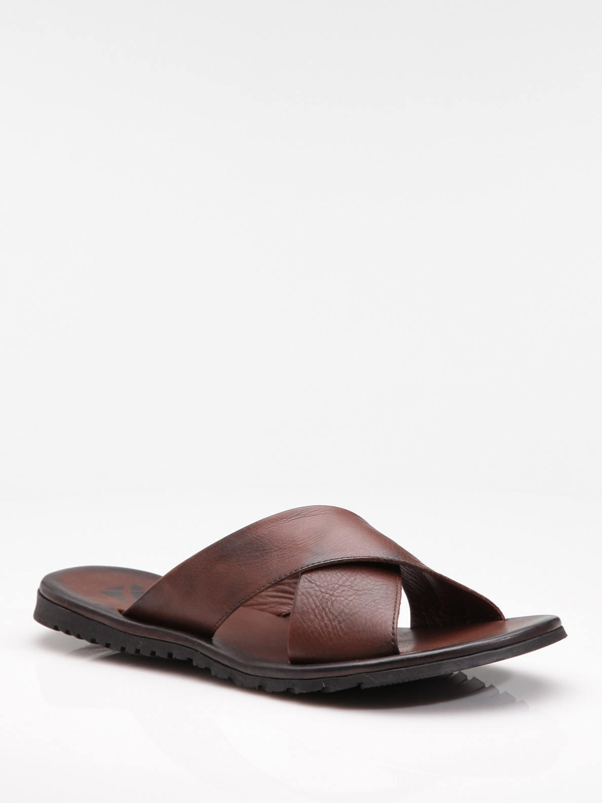 Saks Fifth Avenue Criss Cross Sandals In Tan Brown For
