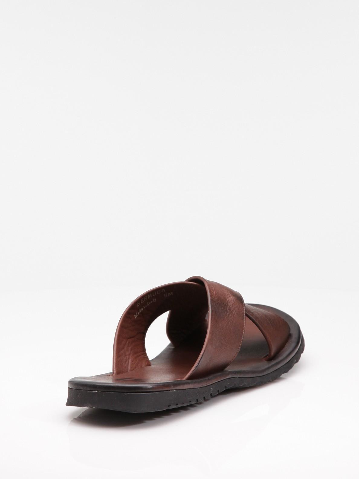 Saks Fifth Avenue Criss Cross Sandals In Brown For Men Lyst