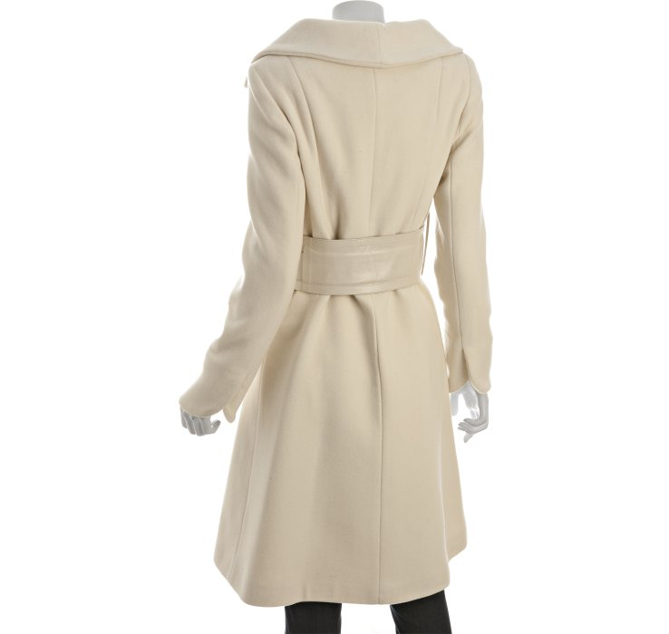 Mackage Off White Wool-cashmere Julia Belted Coat in White | Lyst