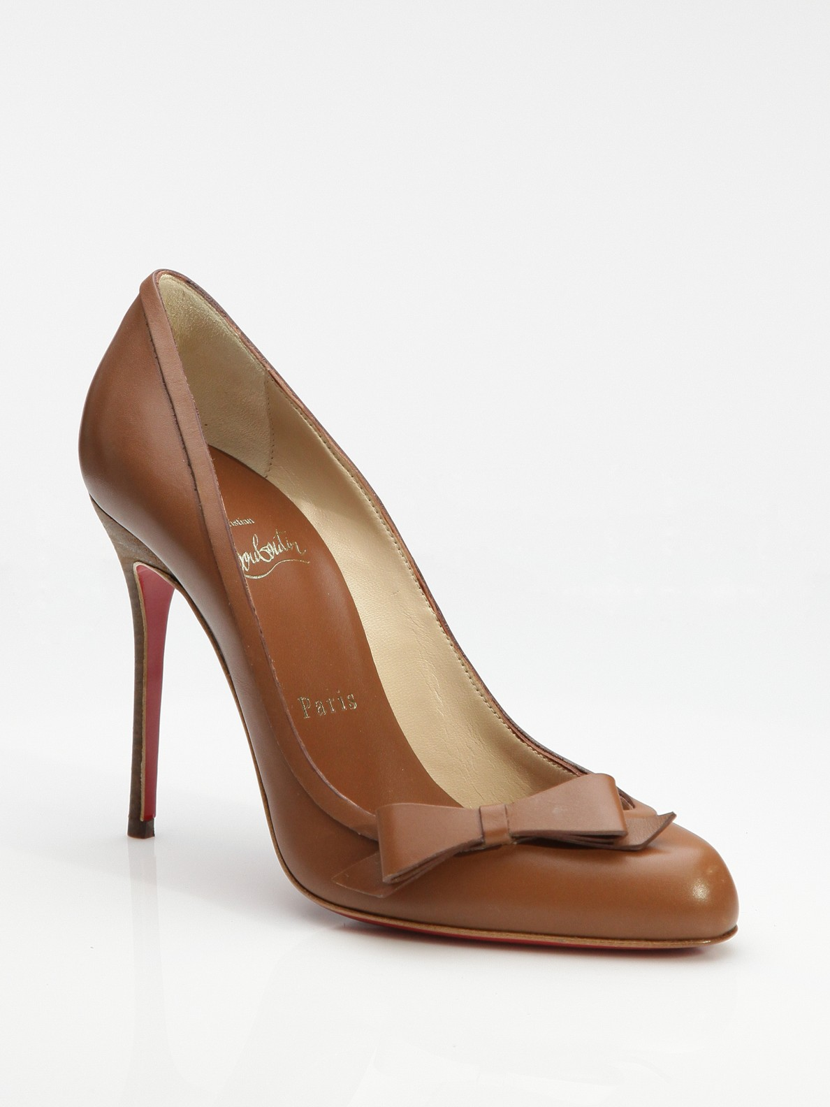 Lyst Christian Louboutin Beauty Bow Pumps In Brown