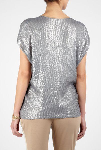 Women 39 s gold sequin shorts memes for Silver metallic shirt women s