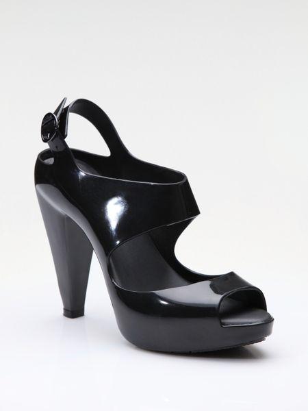 amazonas rubber platform sandals in black lyst