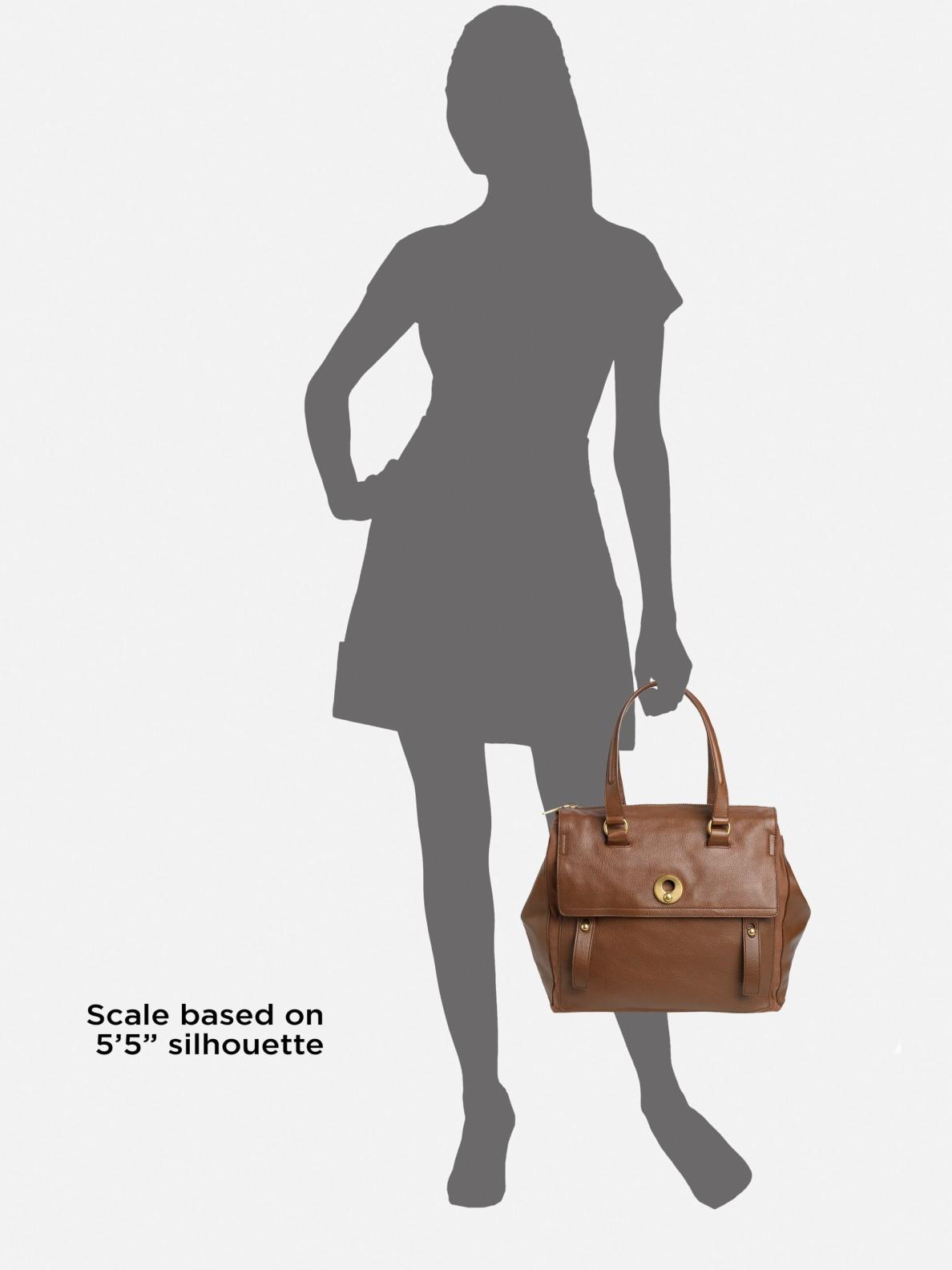 Saint laurent Travel Muse 2 Medium Top Handle Bag in Brown ...