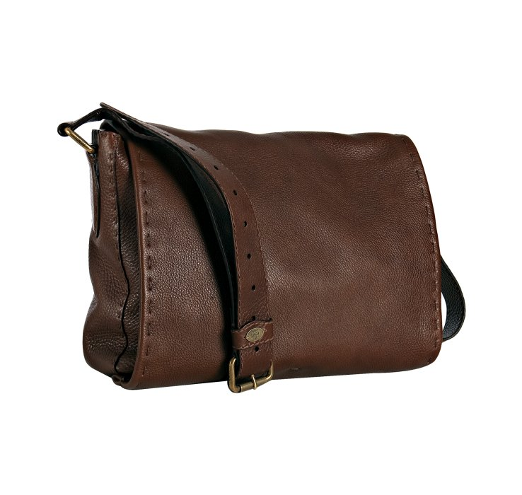 d20092f82c australia lyst fendi brown leather selleria messenger bag in brown for men  a7f7e ff6a5