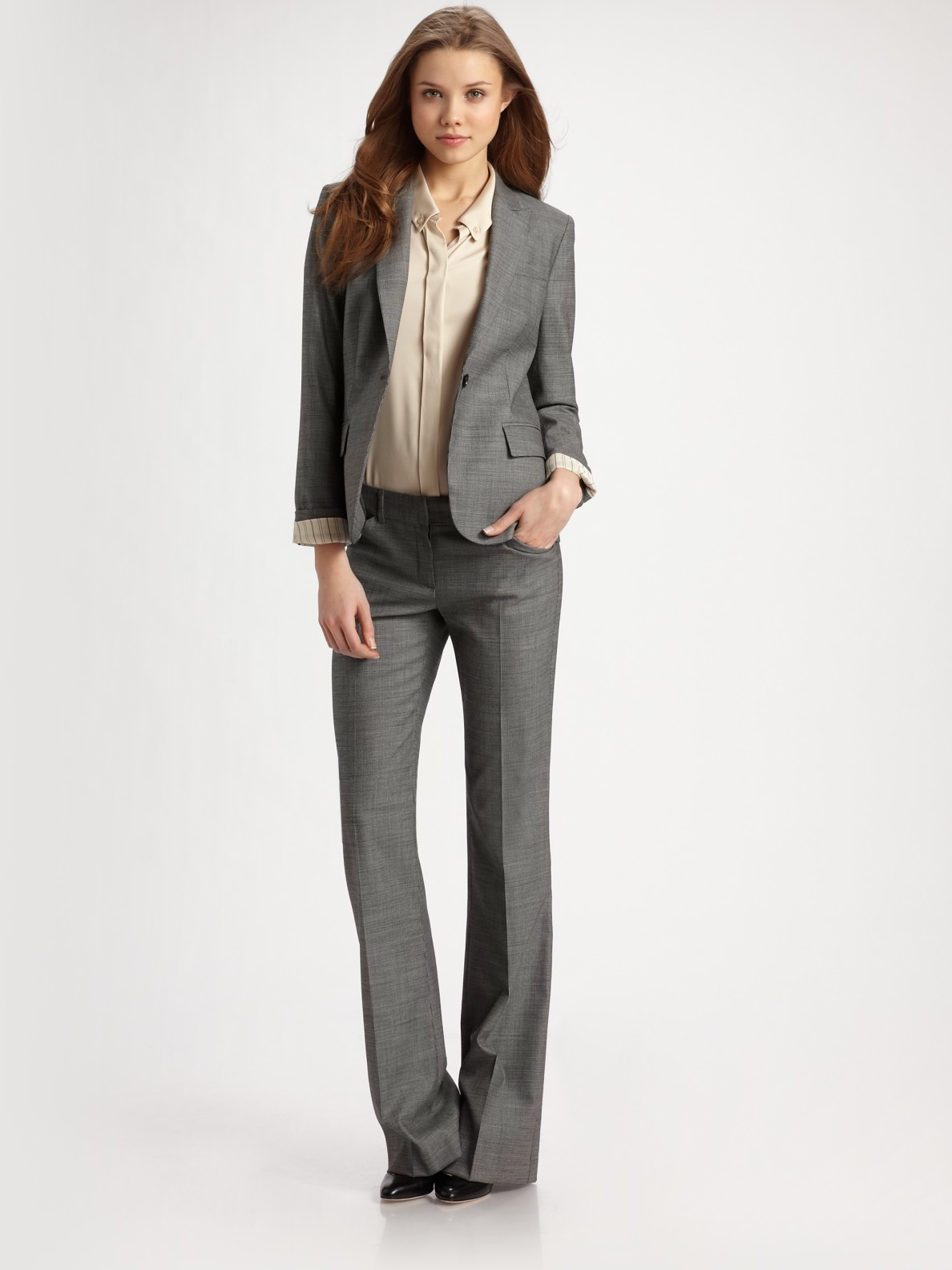 Lyst Theory Gabe Stretch Wool Suit Jacket In White