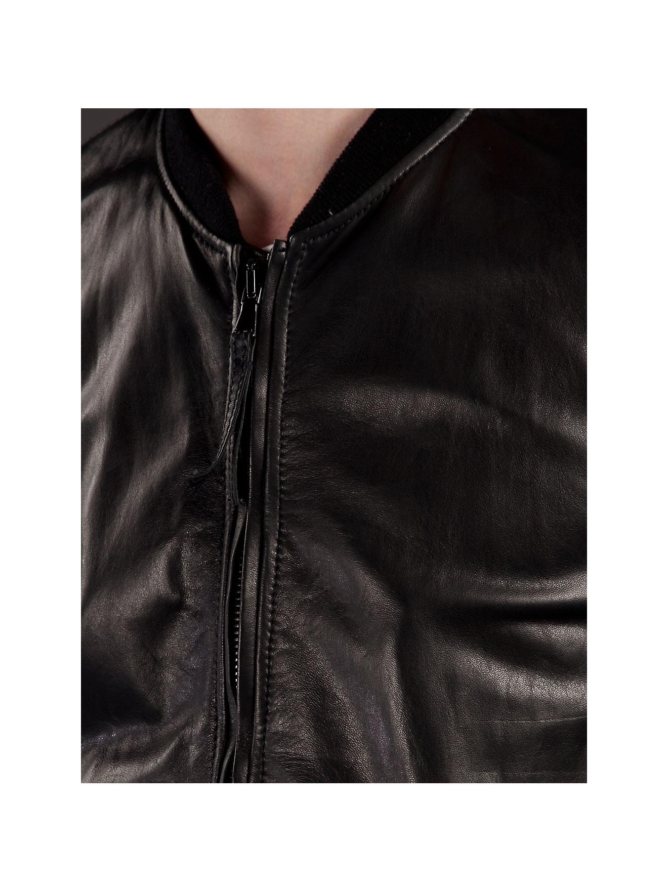 Lot78 Luke Crust Leather Jacket in Black for Men