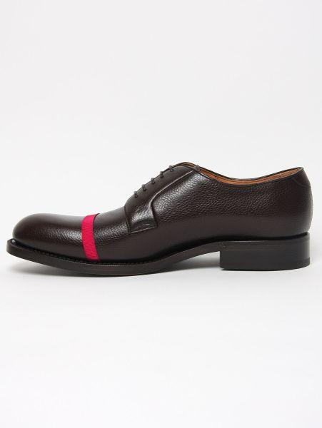 Formal Wear Raf Simons Black Leather Shoe W/turquoise Sole in Black