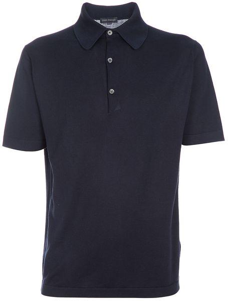 John Smedley Milo Polo Shirt in Blue for Men (navy)