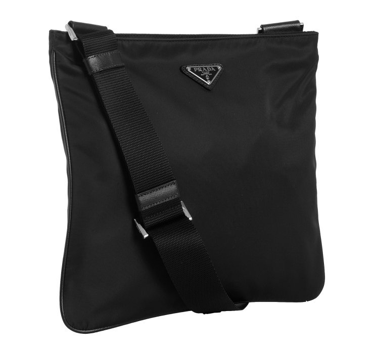 Lyst Prada Black Nylon Viaggio Messenger Bag In Black