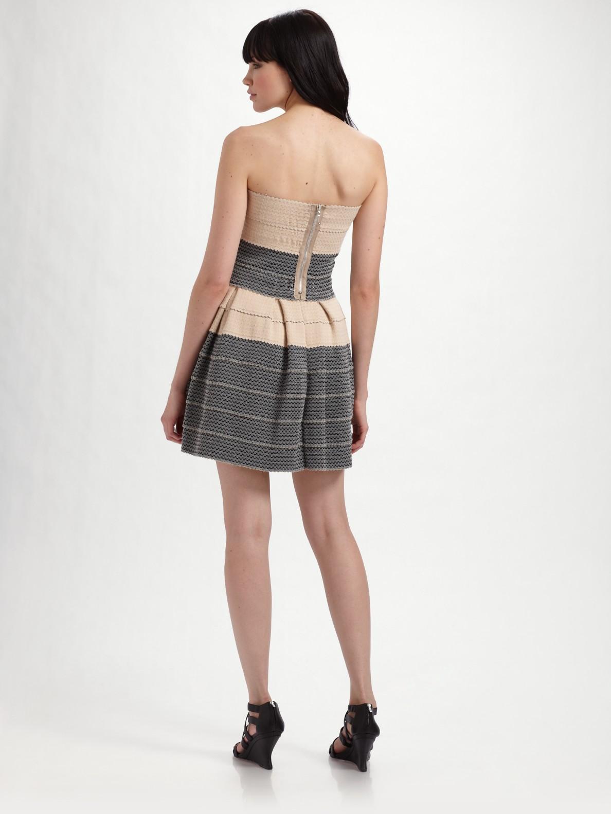 Pleasure Doing Business Petti Pleated Dress In Gray Lyst
