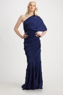 Navy Blue Maxi Dress on Malandrino Off The Shoulder Vivienne Maxi Dress In Blue  Navy    Lyst