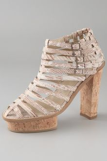 Opening Ceremony Chantal Strappy Platform Booties - Lyst