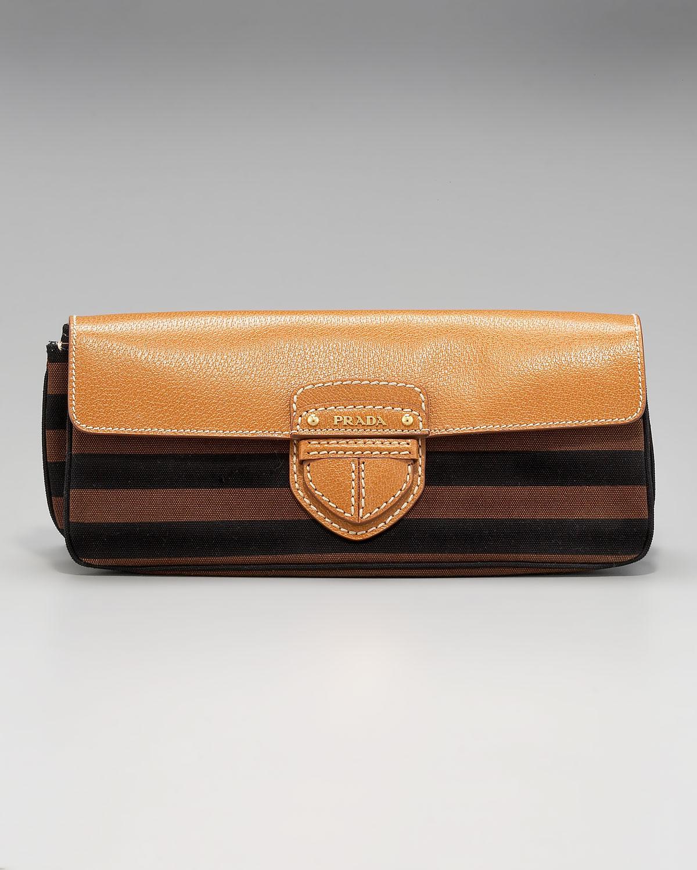 prada messenger bag black nylon - Prada Raso Gathered Clutch in Purple  (prune)  ba6132280814a