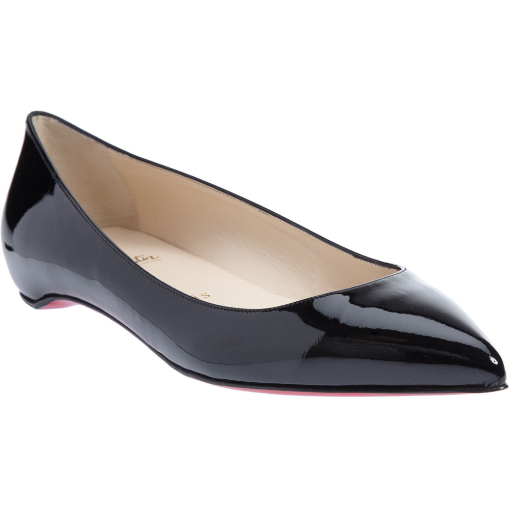 Religious Flat Acrylic: Christian Louboutin Pigalle Flat In Black