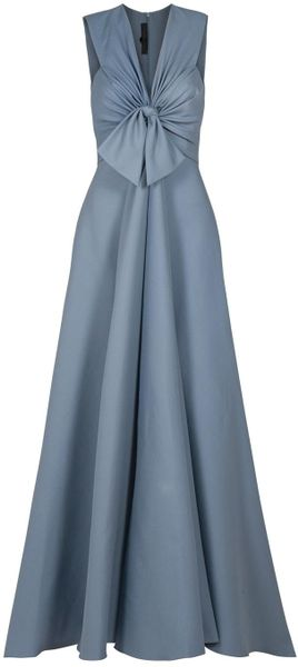 Eastland Tie Front Gown in Blue