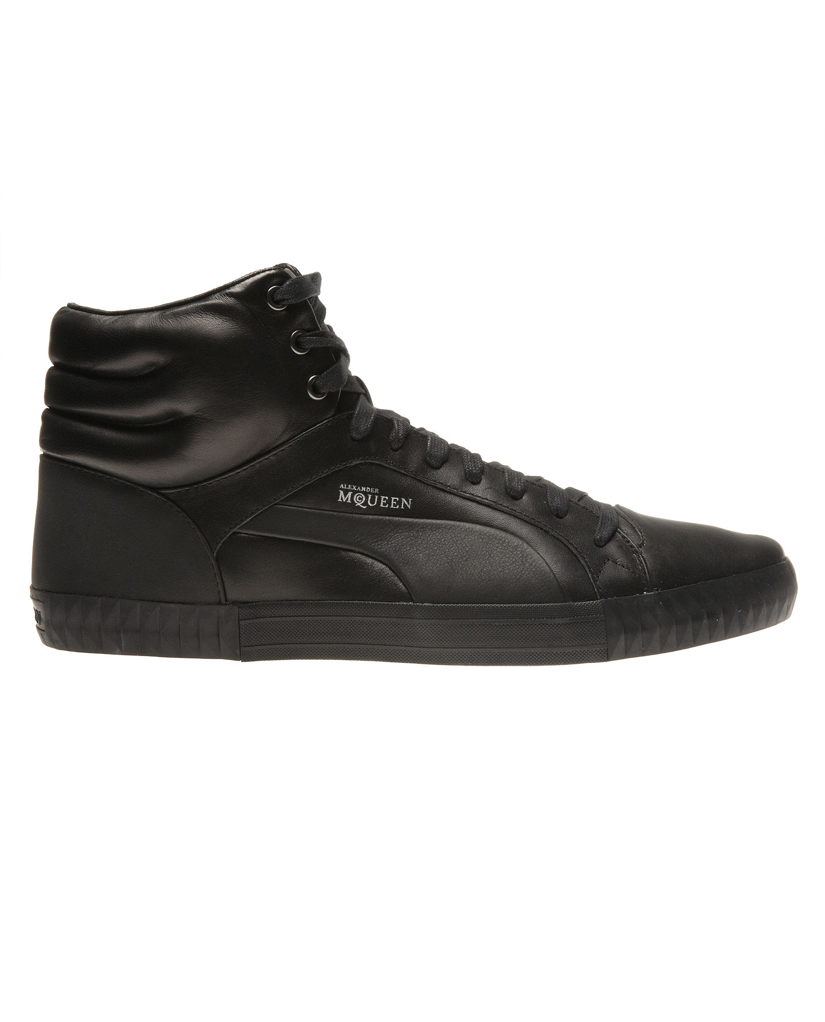 Alexander McQueen X Puma Sculpted Leather Hi-tops in Black for Men ... 5a02550817b3