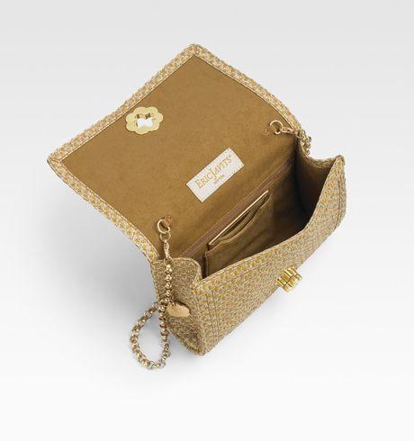 Eric Javits Woven Flap-front Shoulder Bag in Beige (natural