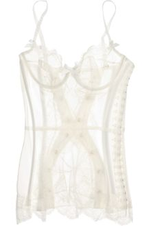Agent Provocateur Penelope Tulle and Lace Basque - Lyst