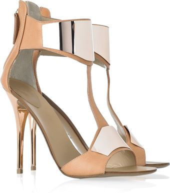 Giuseppe Zanotti Henry Leather T-bar Sandals - Lyst