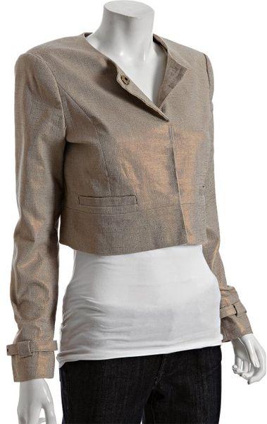 Michael Michael Kors British Khaki Iridescent Cotton Linen