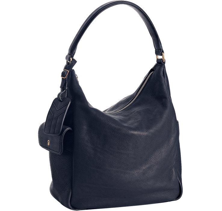 Saint laurent Marine Leather Multy Hobo Bag in Blue (marine)   Lyst