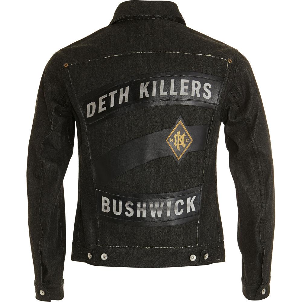 Deth Killers Custom Marquis Denim Jacket in Asphalt (Black