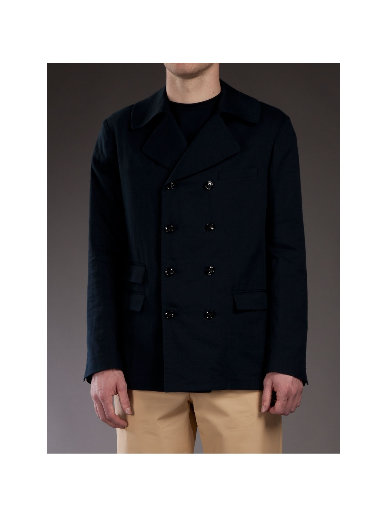 Adam Kimmel Double Breasted Jacket in Navy (Blue) for Men
