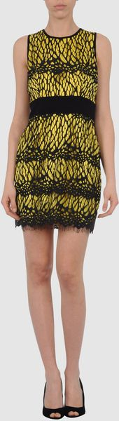 Robert Rodriguez Short Dress in Yellow - Lyst