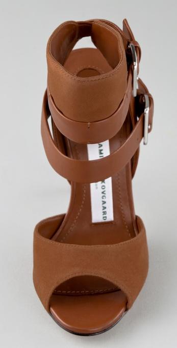 Camilla Skovgaard Buckle Strap High Heel Sandals In Brown