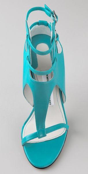 Camilla Skovgaard Ankle Point Strap Sandals In Blue